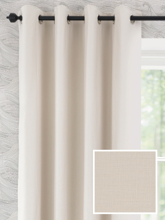 Ready Made Curtains In Melandra 100 Cotton Natural