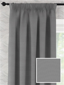 pencil pleat ready made curtains in Merlin.  100% cotton.