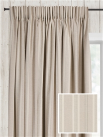 pencil pleat ready made curtains in Iona.  100% cotton.