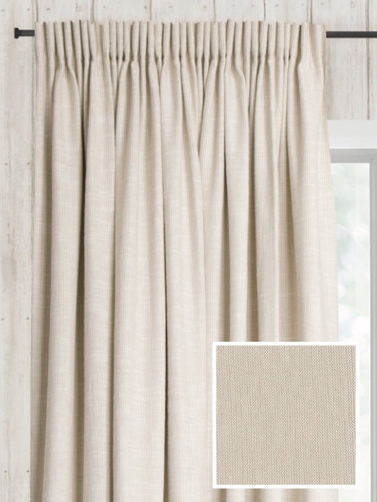 Ready Made Pencil Pleat Curtains In Austin Natural