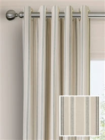 eyelet ready made cotton curtains in Samson.  50% off.