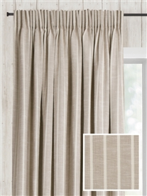 pencil pleat ready made curtains in Laguna.  100% cotton.