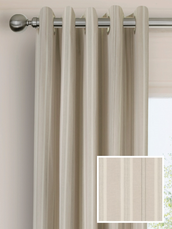 Ready Made Pencil Pleat Curtains In Iona Natural Curtain