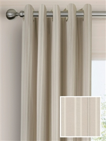 eyelet ready made cotton curtains in Iona.  50% off.