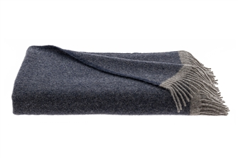 Navy Shades Wool Adelso Throw