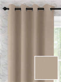 eyelet ready made curtains in Doe. 50% off.