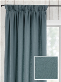 pencil pleat ready made linen curtains in March.  60% off.