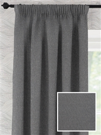 pencil pleat ready made curtains in Solitaire.  100% cotton.