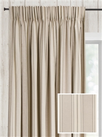 pencil pleat ready made curtains in Rathlin.  100% cotton.