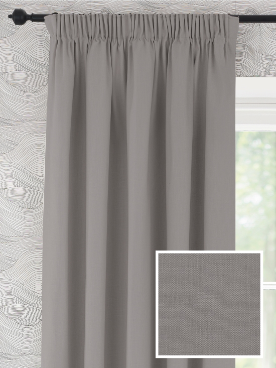 Pencil Pleat Ready Made Curtains In Camber 100 Cotton