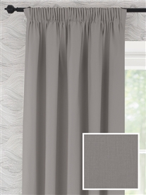 pencil pleat ready made curtains in Camber. 100% cotton.