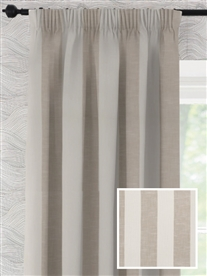 pencil pleat ready made curtains in Florida.  100% cotton.