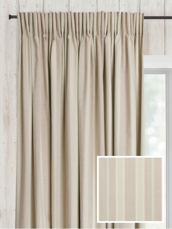 Pencil Pleat Ready Made Curtains In Mersea 100 Cotton