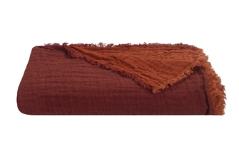 Brique Linen Marais Throw