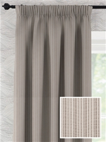 pencil pleat ready made cotton curtains in Rodeo.  50% off.