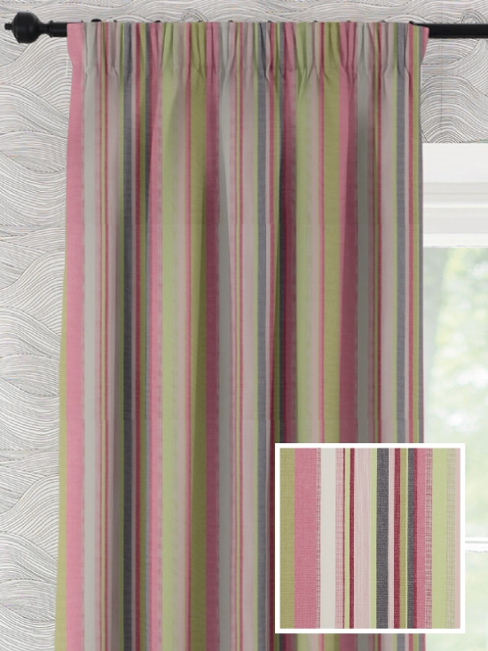 Pencil Pleat Ready Made Curtains In Ardeche 100 Cotton