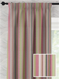 pencil pleat ready made curtains in Ardeche.  100% cotton.