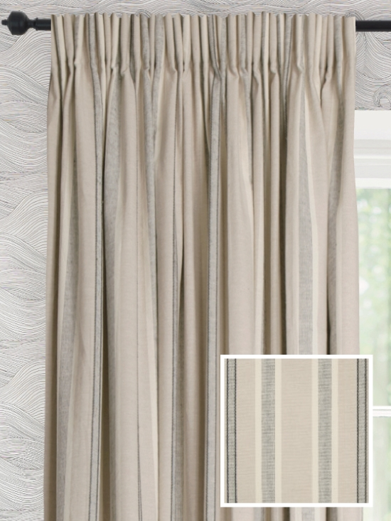 Ready Made Pencil Pleat Curtains In Samson
