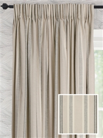pencil pleat ready made curtains in Samson.  100% cotton.