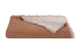 Rose Linen Marais Throw