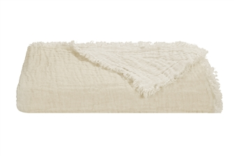 Chalk Linen Marais Throw